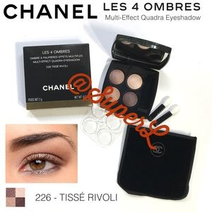 NEW Chanel Quad Eyeshadow 226 TISSE RIVOLI & Bag